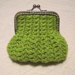 Lime Green Crochet Coin Purse with ..